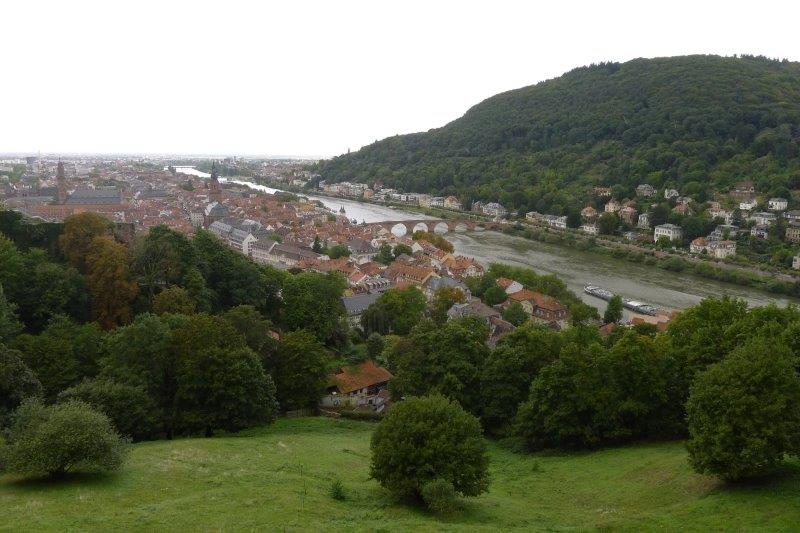 Heidelberg and river