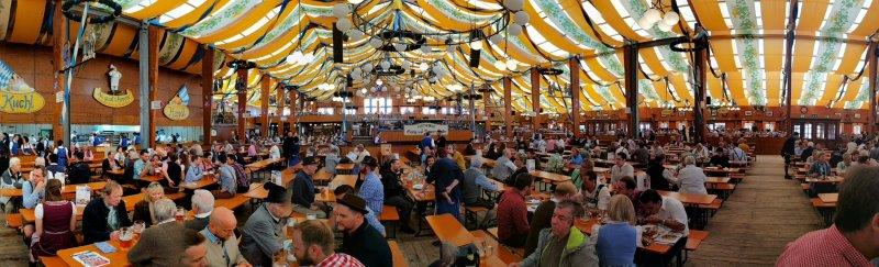 Lowenbrau tent panorama