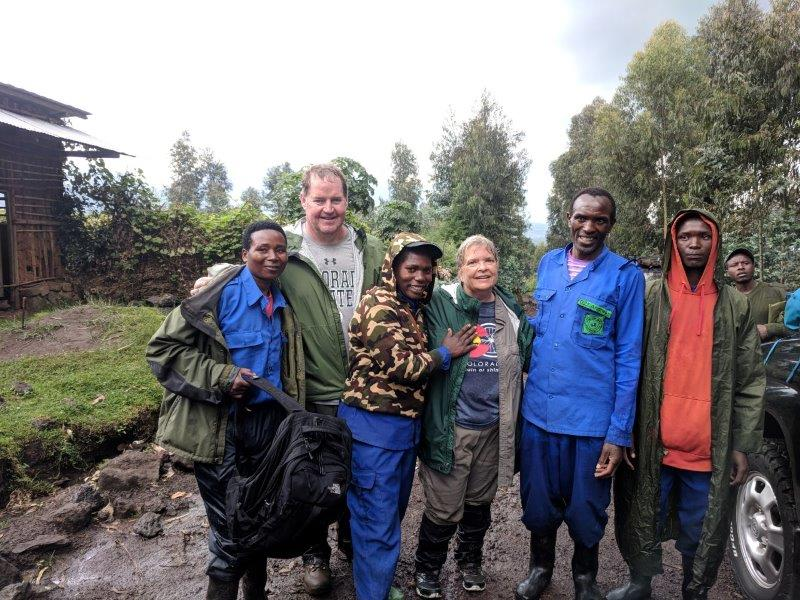 Our porters on the rainy, wet, muddy day!