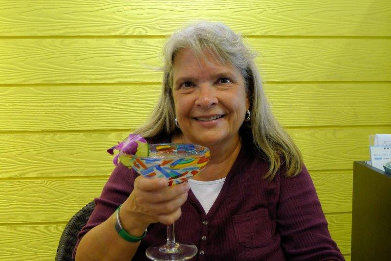 Susan with a margarita