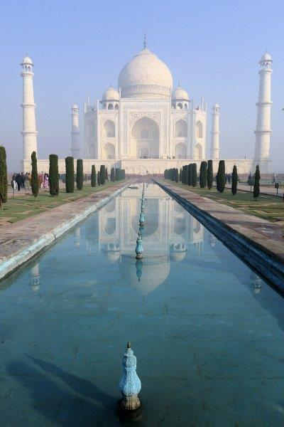 Taj reflecting