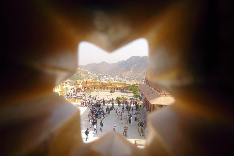 Amber Fort view through window