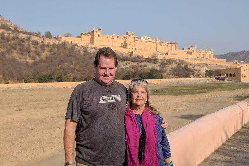 Mark and Susan at the Amber Fort