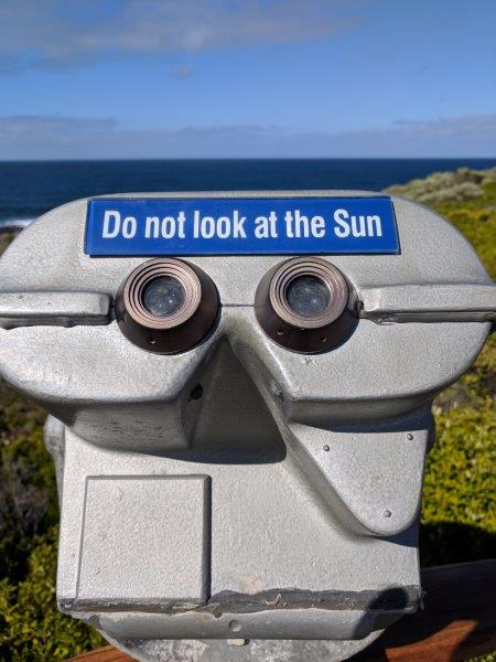 Sun warning sign
