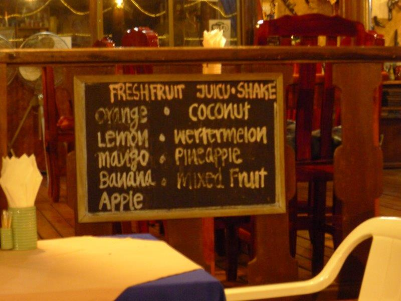 Misspelled fruit shake sign