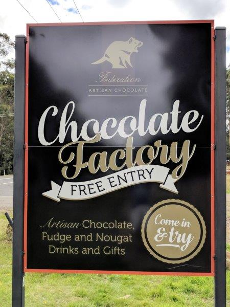 Chocolate Factory sign