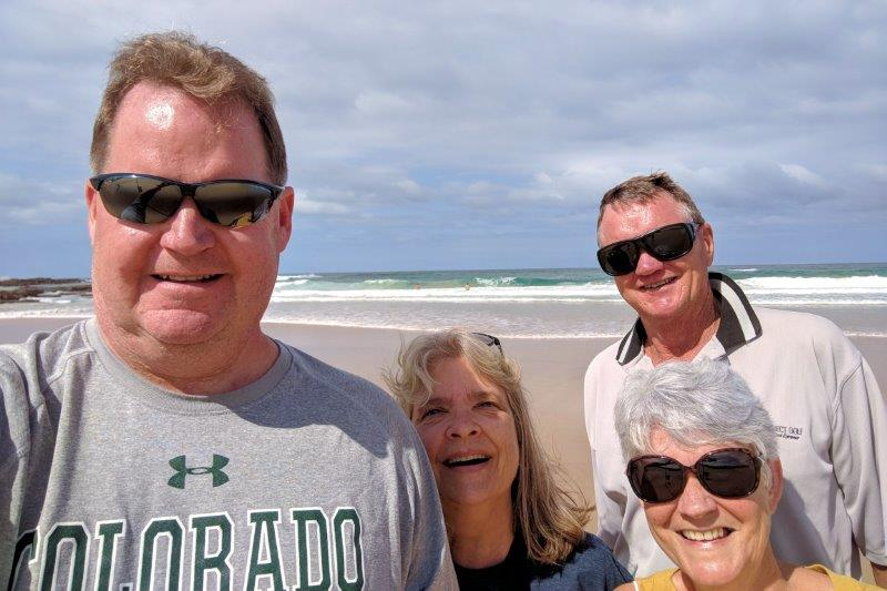 Mark, Susan, Trevor and Gale after a walk on the beach