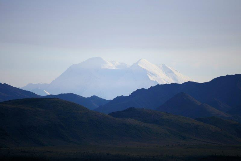 Denali mountain at sunset
