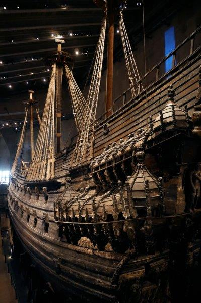 Boat from 1628 in Vasa Museum