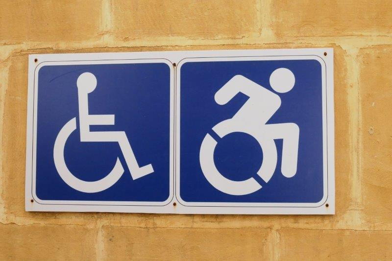 wheel chair accessible toilet sign