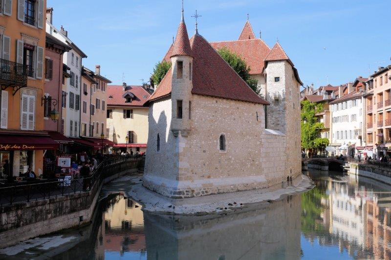 Castle in river in Annecy