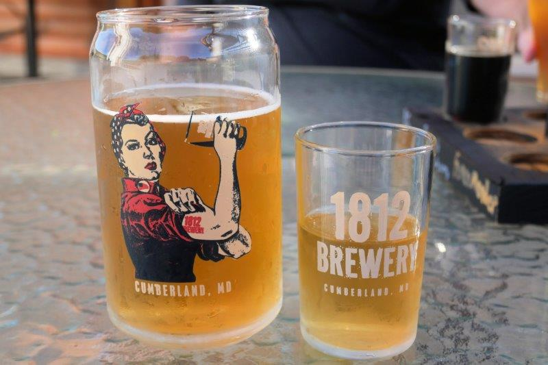 1812 beer in glasses